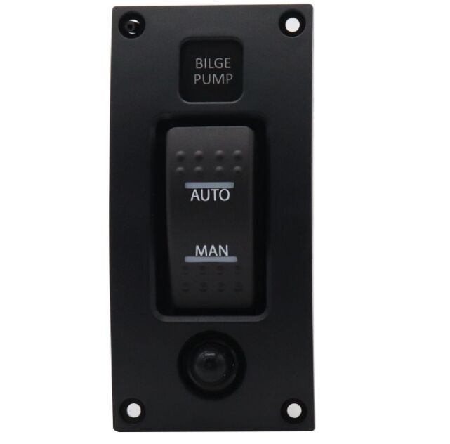 ON-OFF-ON Waterproof 12-24V Bilge Pump Rocker Switch Panel Boat Switch Panel With Red Indicator Light